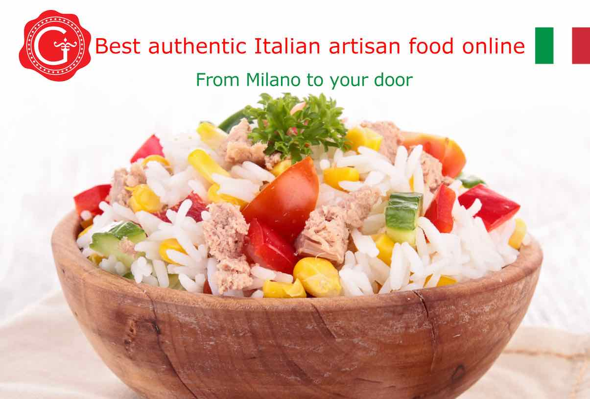 rice salad - best Italian food - Gustorotondo online food shop - authentic Italian artisan food online