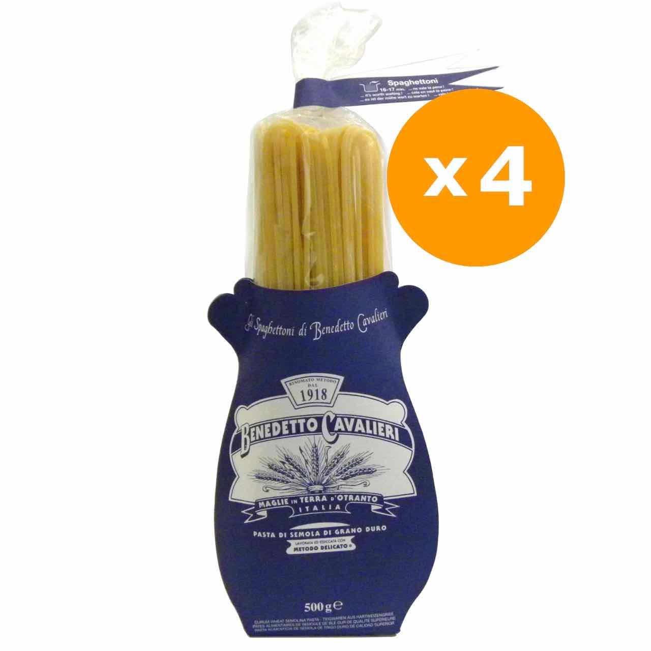 spaghettoni benedetto cavalieri 4 confezioni – Gustorotondo online shop – i migliori cibi online – vendita online dei migliori cibi italiani artigianali