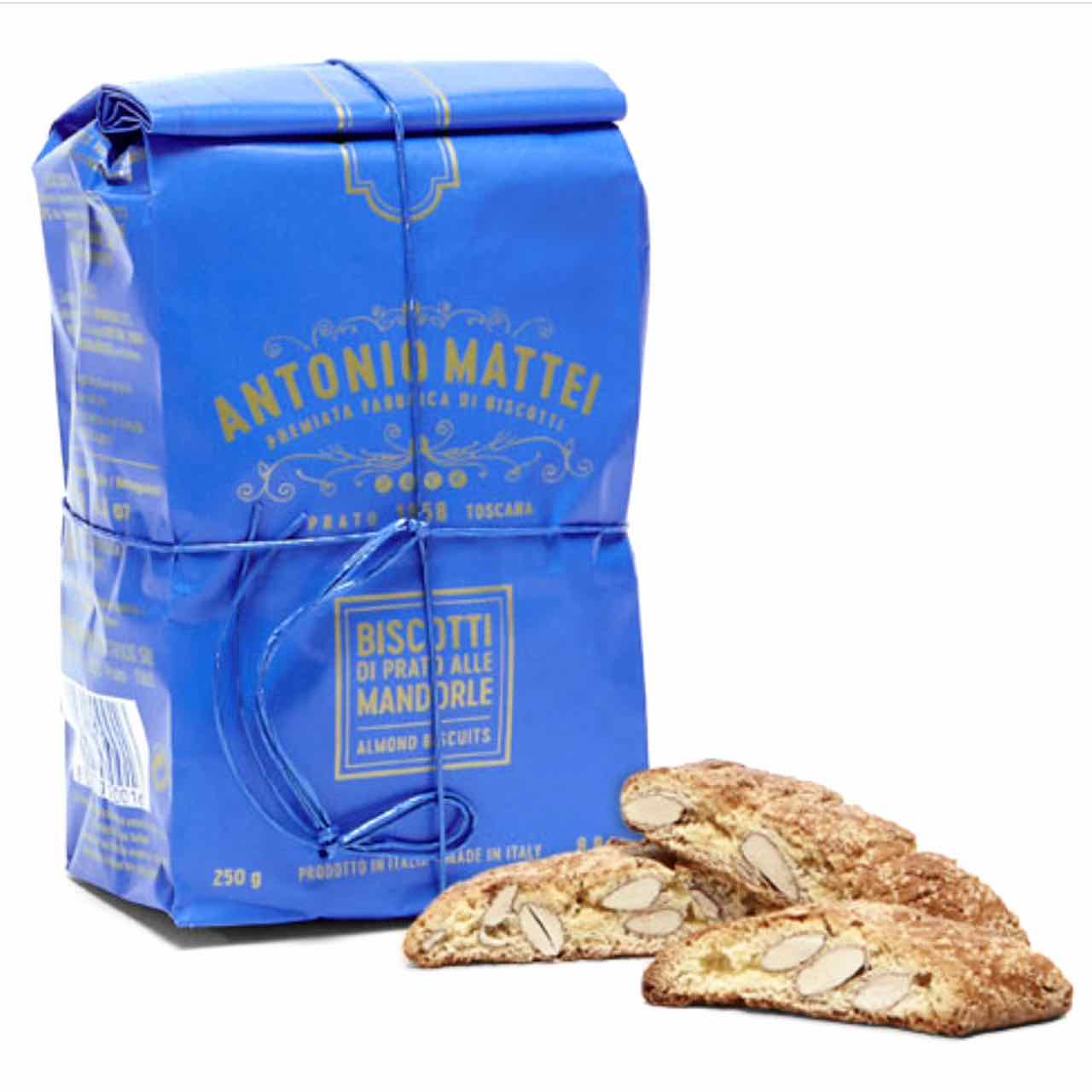Antonio Mattei Prato biscuits – cantuccini – cantucci – Gustorotondo – best Italian food – Gustorotondo online food shop – authentic Italian artisan food