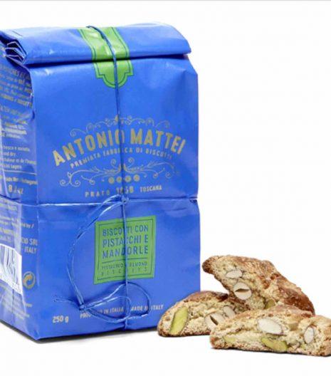 Antonio Mattei pistachio almond biscuits - Gustorotondo