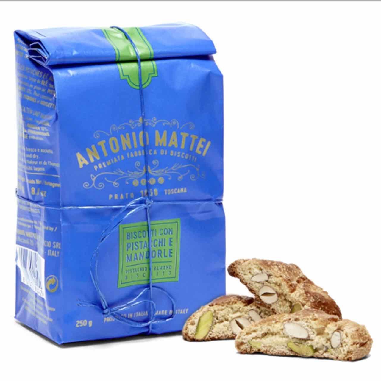 Biscotti pistacchi mandorle Antonio Mattei – Gustorotondo – spesa online –  Gustorotondo online shop – i migliori cibi online – vendita online dei migliori cibi italiani artigianali
