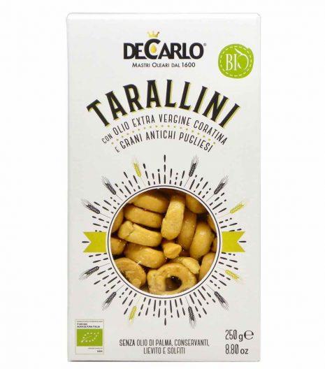 tarallini bio - De Carlo - Gustorotondo - spesa online