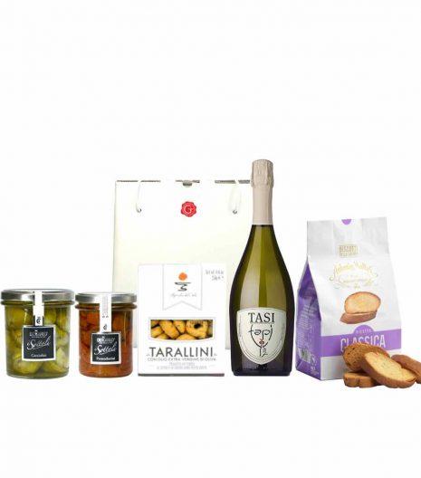confezione regalo - aperitivo con gusto - Gustorotondo - spesa online