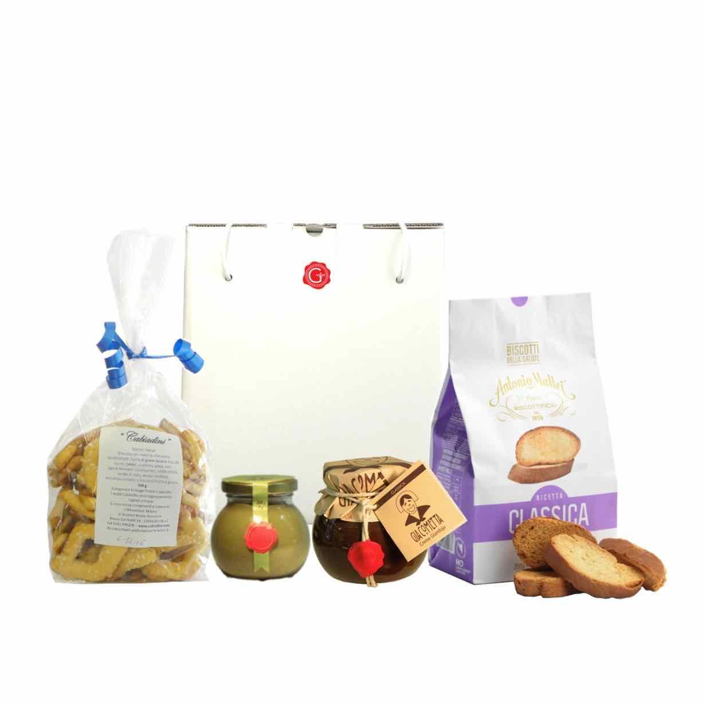 confezione regalo – momenti di dolcezza – Gustorotondo – spesa online –  Gustorotondo online shop – i migliori cibi online – vendita online dei migliori cibi italiani artigianali