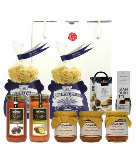 gift box artisan pasta and chocolate - - shop online - Gustorotondo