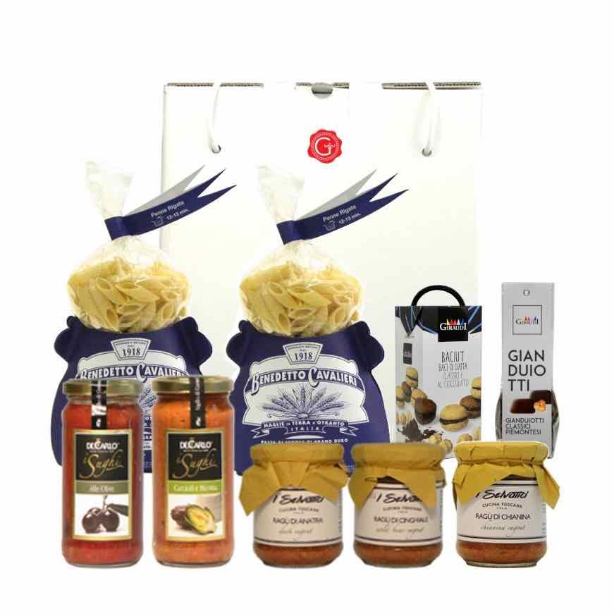 gift box artisan pasta and chocolate – – shop online – Gustorotondo – best Italian food – Gustorotondo online food shop – authentic Italian artisan food