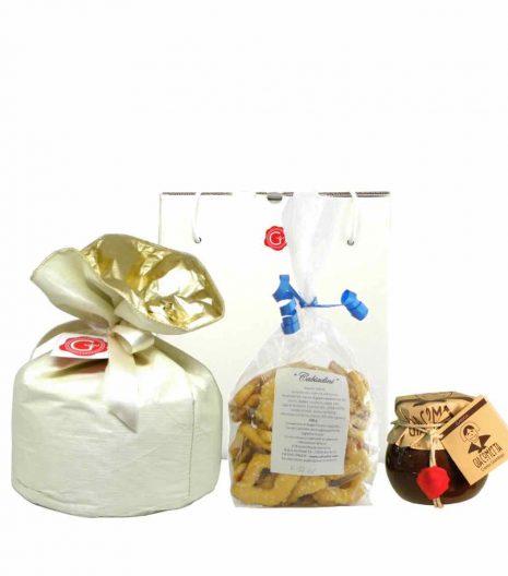 gift box panettone Cabiadini Giacometta gianduja - shop online