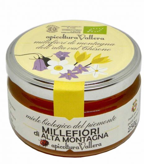 miele millefiori alta montagna Apicoltura Vallera 250 g - Gustorotondo - spesa online