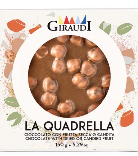 Quadrella Giraudi cioccolato latte e nocciole confezione - Gustorotondo - buono sano artigiano - spesa online