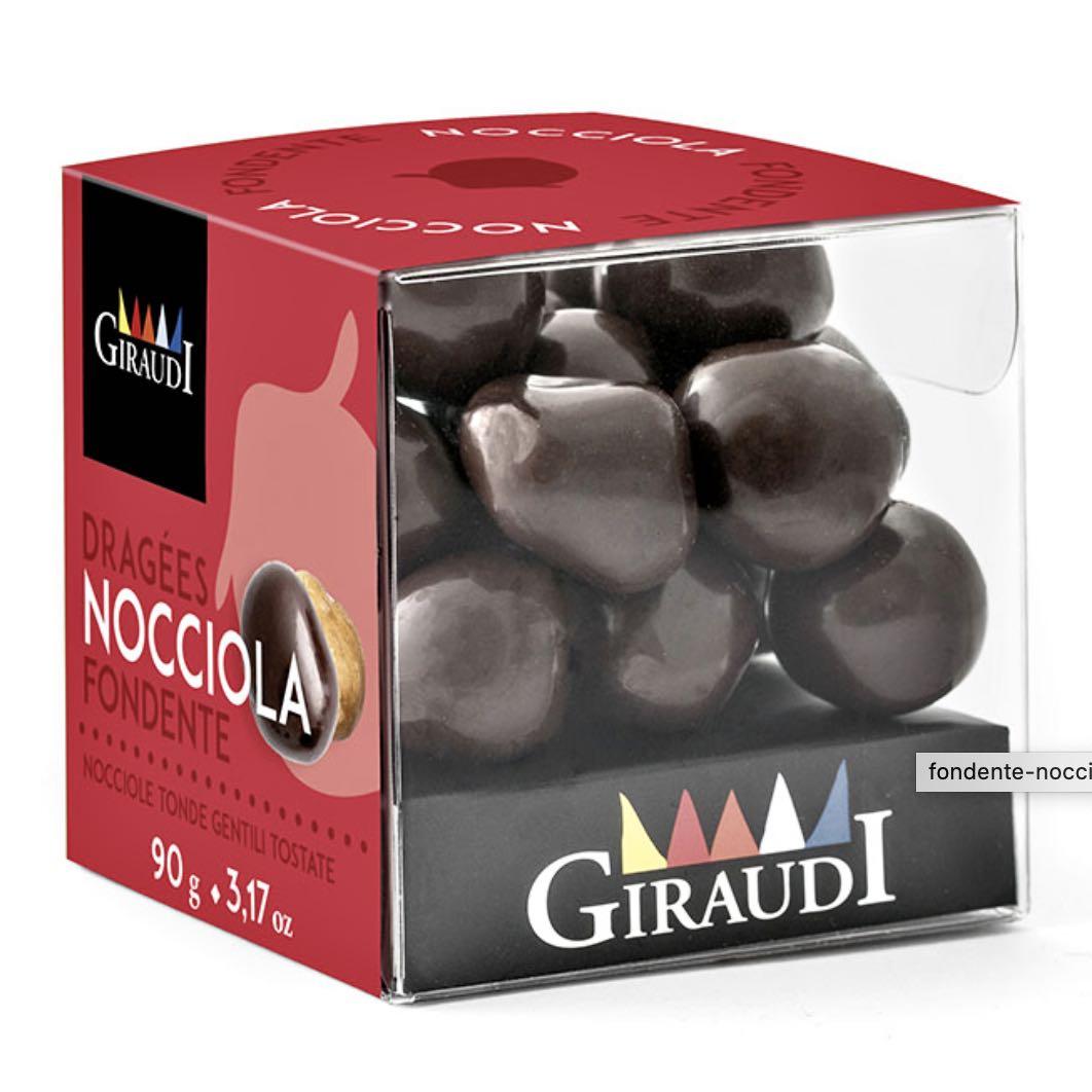 Giraudi nocciole ricoperte cioccolato fondente – Gustorotondo – buono sano artigiano – spesa online
