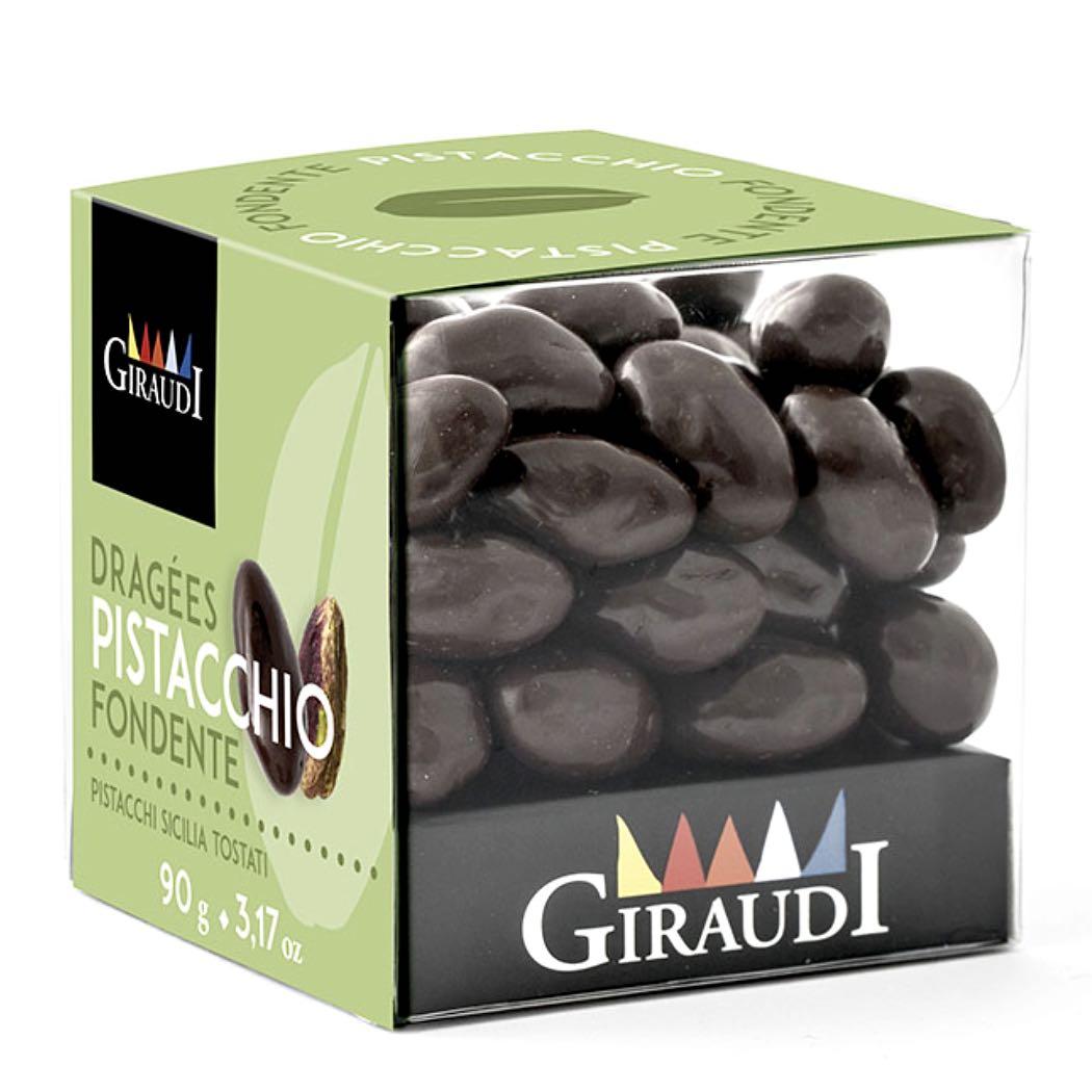 Giraudi pistacchi ricoperti cioccolato fondente – Gustorotondo – buono sano artigiano – spesa online