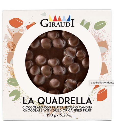 Quadrella Giraudi fondente e nocciole confezione - Gustorotondo - buono sano artigiano - spesa online