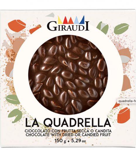 Quadrella Giraudi fondente e pistacchi confezione - Gustorotondo - buono sano artigiano - spesa online
