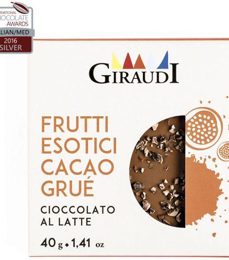 cioccolato Giraudi tavoletta frutti esotici cacao grué - Gustorotondo - buono sano artigiano - spesa online