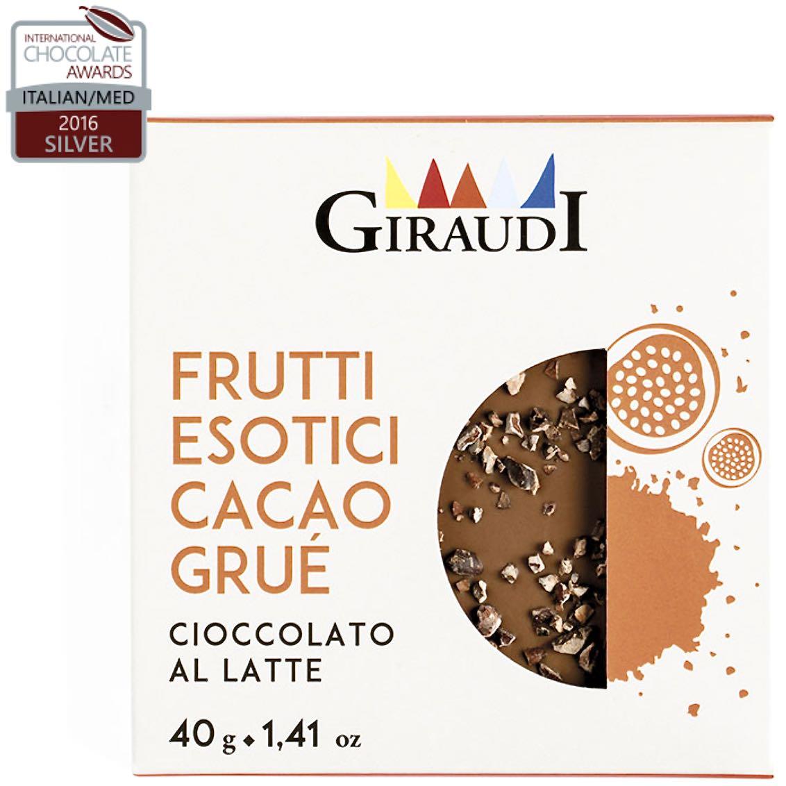 cioccolato Giraudi tavoletta frutti esotici cacao grué – Gustorotondo – buono sano artigiano – spesa online