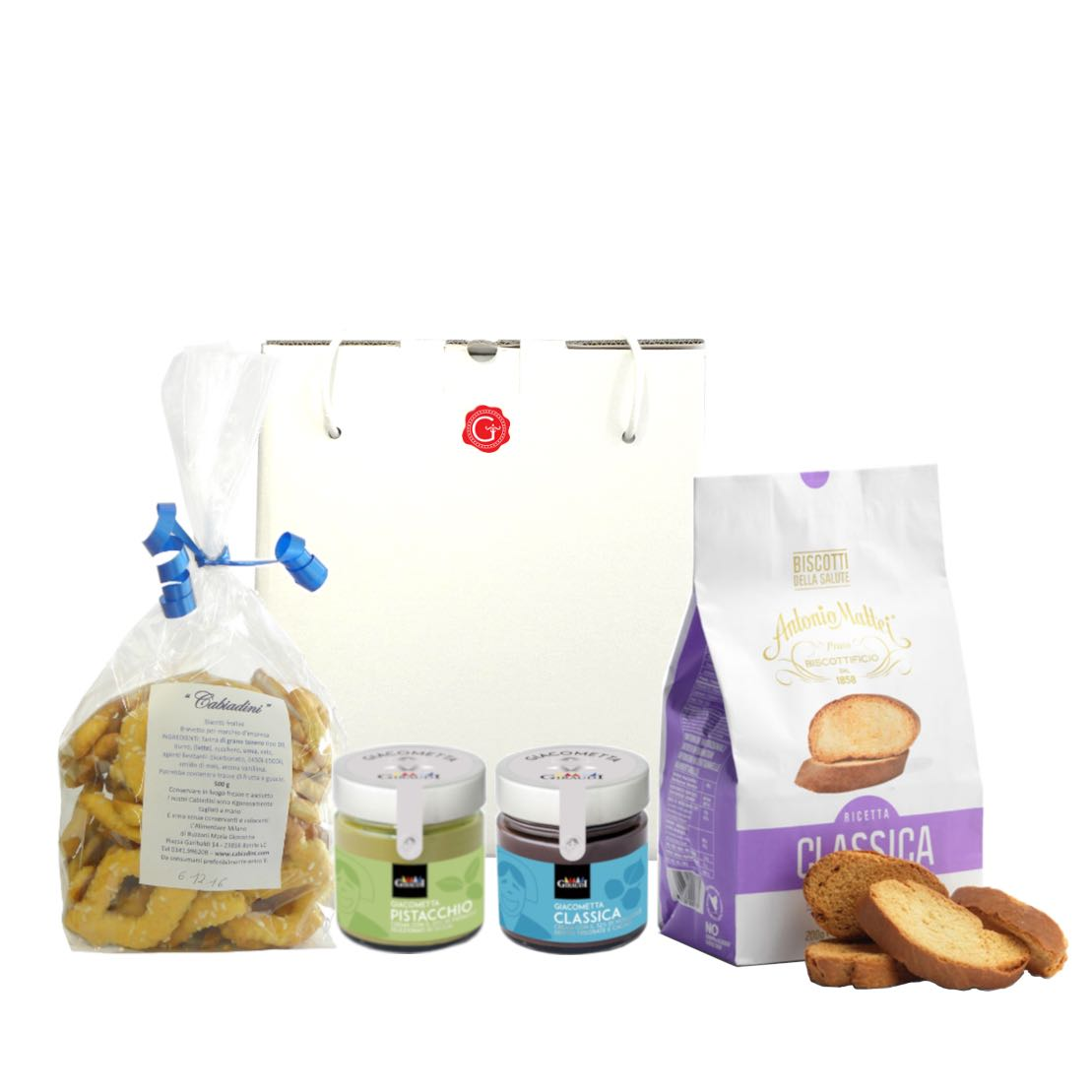 confezione regalo con dolcezza – Gustorotondo – buono sano artigiano – spesa online