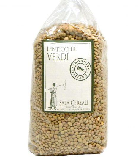 lenticchie verdi Sala Cereali - Gustorotondo - buono sano artigiano