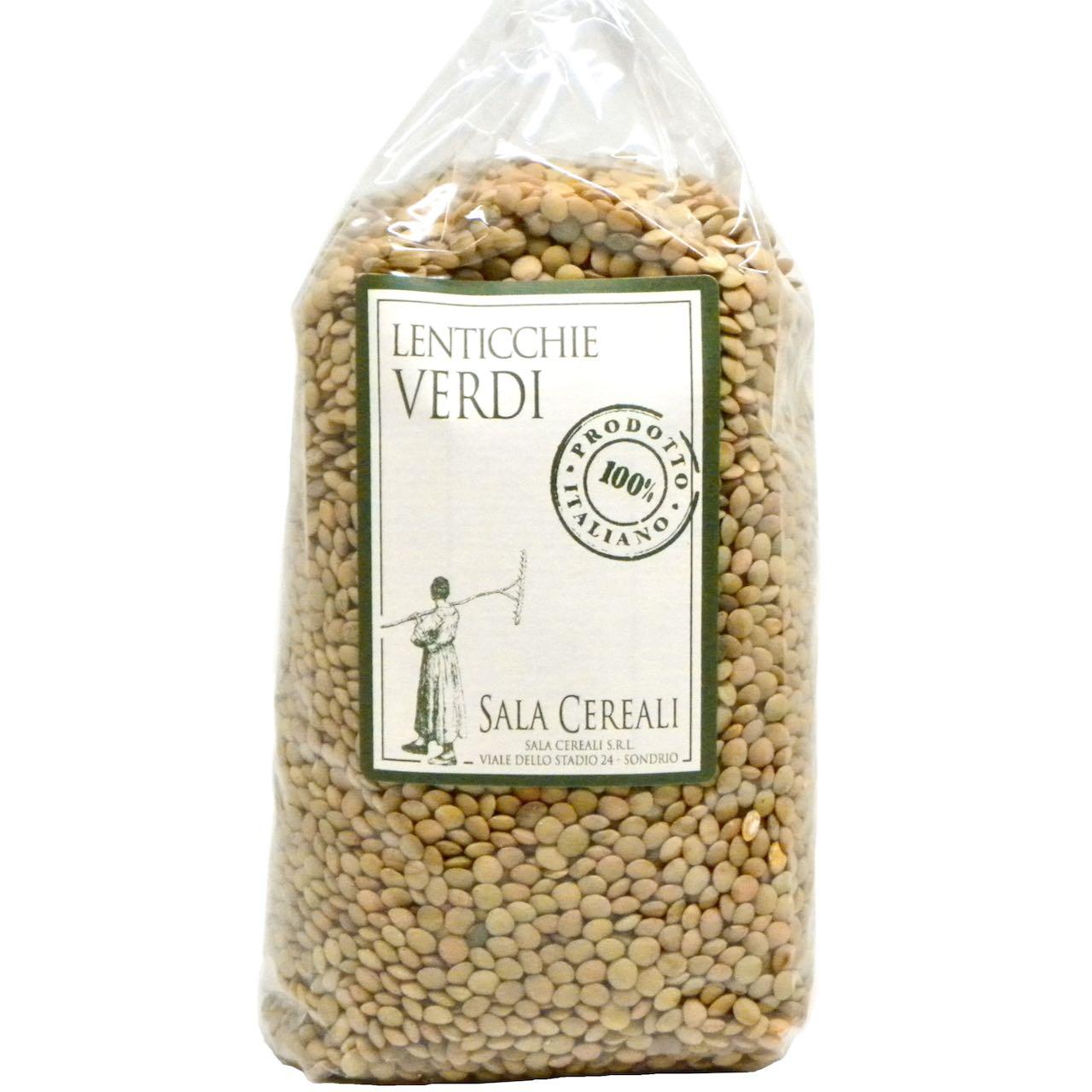 lenticchie verdi Sala Cereali – Gustorotondo – buono sano artigiano