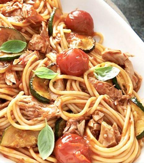 spaghetti tonno rosso filetti Mattina Nutritalia - Gustorotondo - spesa online - buono sano artigiano