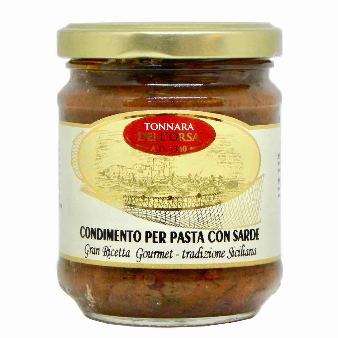 Condimento per pasta con sarde – Mattina – Nutritalia – Gustorotondo – spesa online – buono sano artigiano