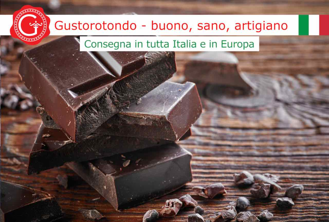 cioccolato fondente benefici - Gustorotondo - spesa online - buono sano artigiano